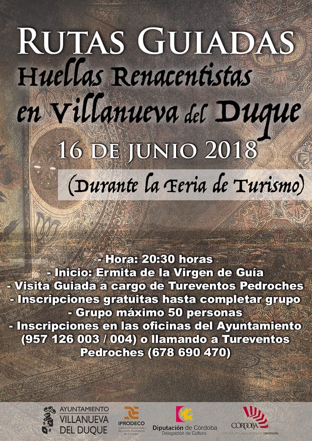 Visita guiada ruta renacentista villanueva del duque 2018