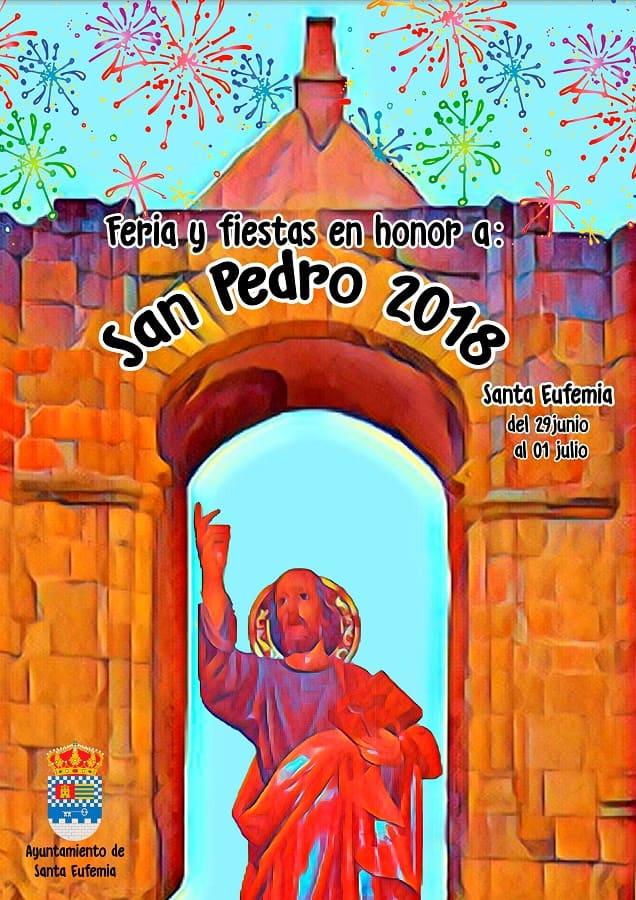 Cartel Feria de San Pedro de Santa Eufemia 2018