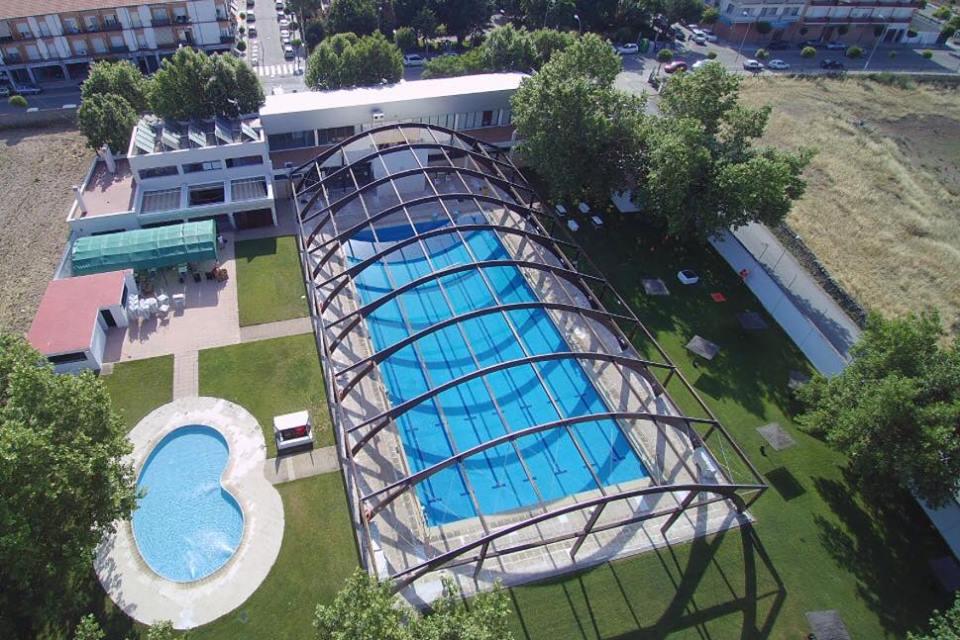 Foto aérea Piscina Municipal de verano de Pozoblanco