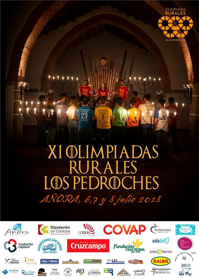 Cartel Olimpiadas Rurales 2018 presentación