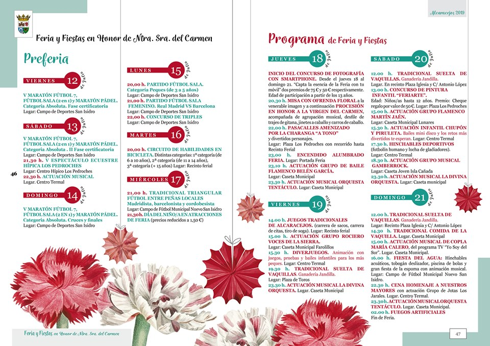 Programa Feria Alcaracejos 2019