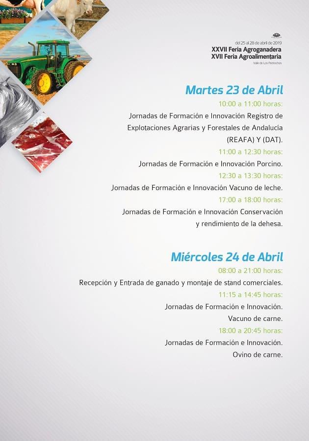 Programa Marte Feria Agroganadera Pozoblanco 2019