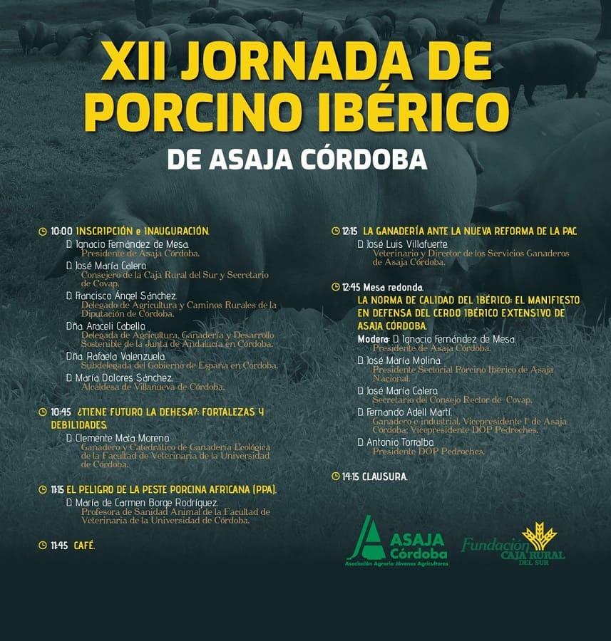 Programa Jornada del Porcino Ibérico Asaja 2019