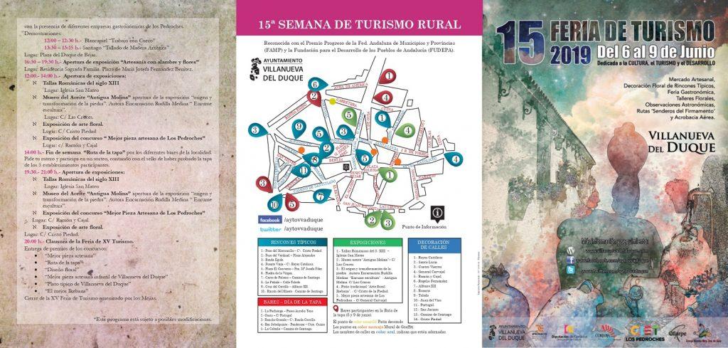 Programa y Mapa de la Feria de Turismo de Villanueva del Duque 2019