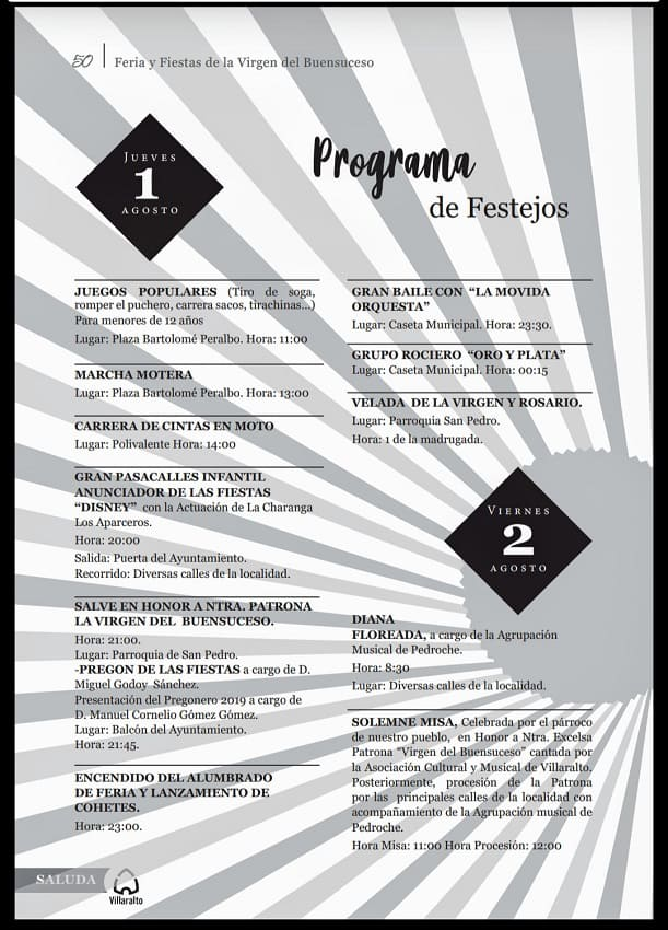 Programa Feria de Villaralto 2019